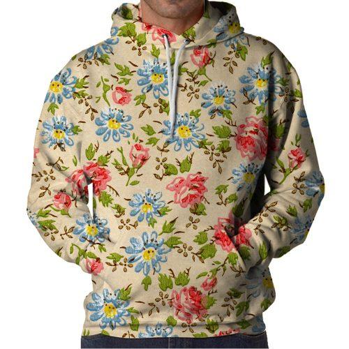 Floral Hoodie Front