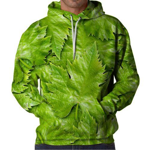 Fresh Leaves Hoodie Front