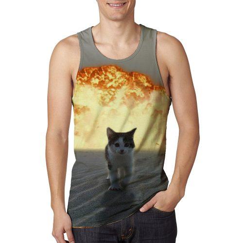 Man's Catsplosion Tanktop New