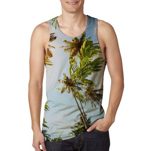 Man's Coconut Tree Tanktop New