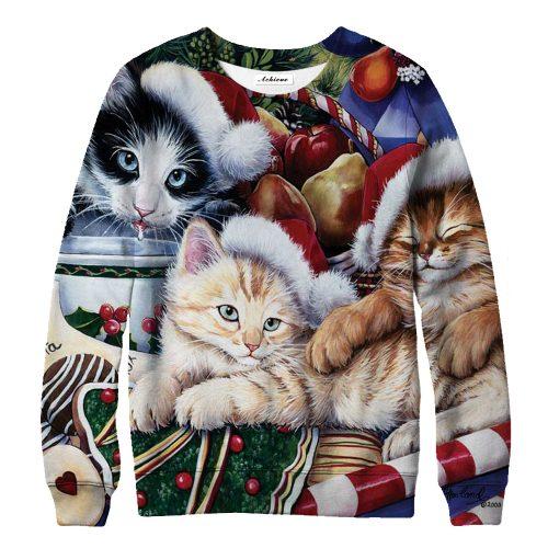 Meowy Christmas Sweatshirts