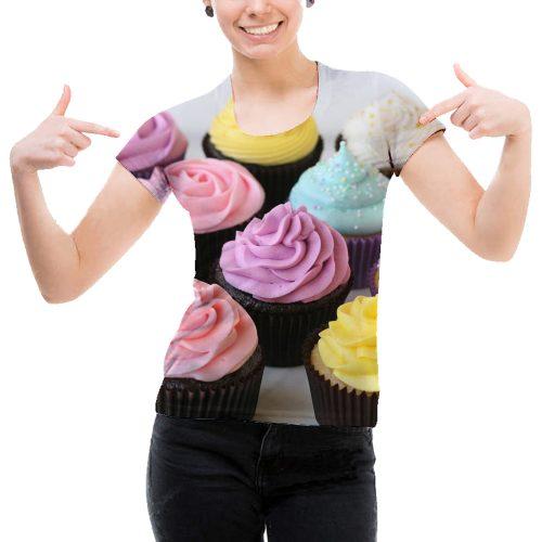 Woman Cupcake Tee New