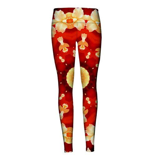 Abstract Flower Yoga Legging