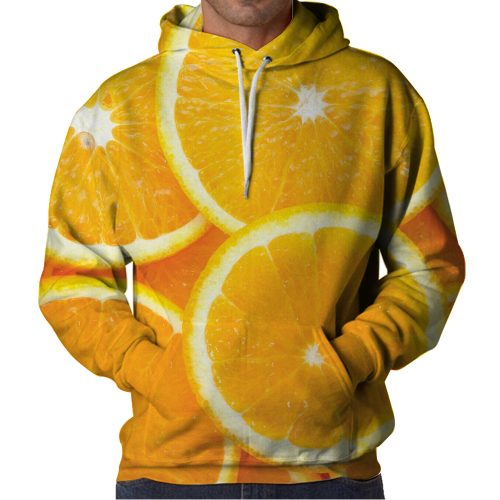 Orange Slice Hoodie Front