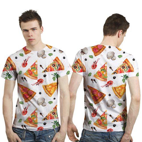 Man Pizza Mushroom Tee New