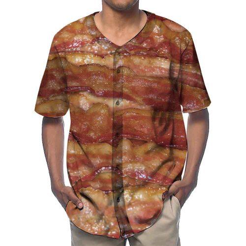 Bacon Baseball Shirts New