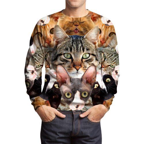 Big Cat Collage Sweatshirts
