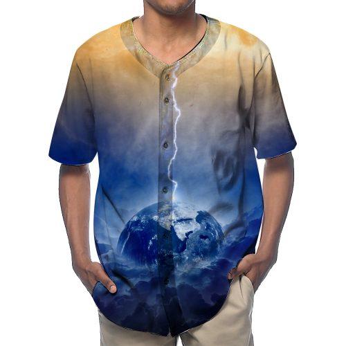 Explosion Cloud Baseball Shirts New