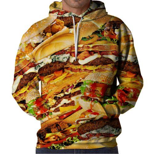 Hamburger Layer Hoodie Front