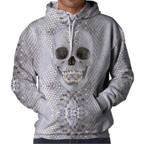 Diamond Skull Hoodie Front