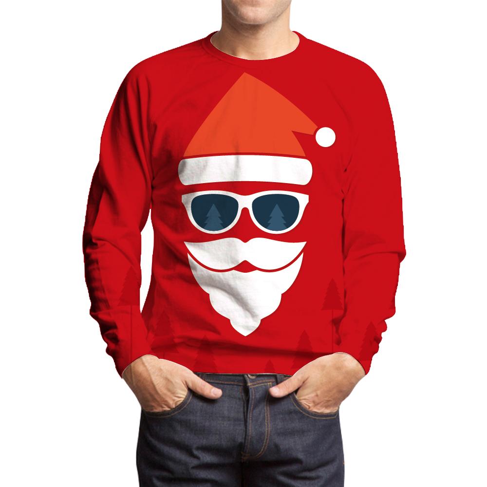 the santa claus red sweatshirts - Santa Claus Red